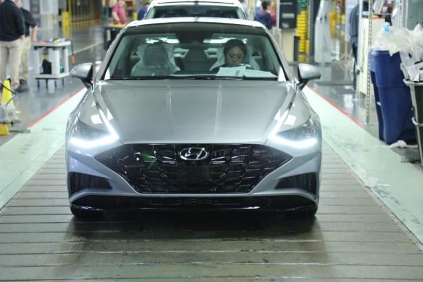 Hyundai launches mass production of the all-new 2020 Sonata sedan at the automaker's Montgomery, Alabama, plant on Nov. 1. (Hyundai)