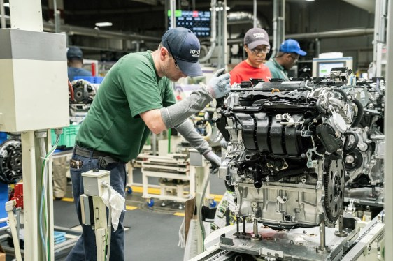 Toyota's plant in Huntsville produces about 2,500 engines a day, five times the number it produced when the facility opened in 2003. (Toyota)