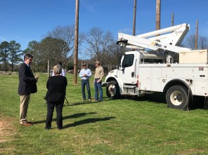 When it comes to training for linework, there's no substitute for real equipment. Alabama Power recently donated a bucket truck to the Pre-Apprentice Electrical Lineworker program at Wallace Community College in Dothan. (Wallace Community College)