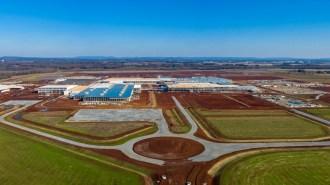 The Mazda Toyota plant rises in Huntsville. (contributed)