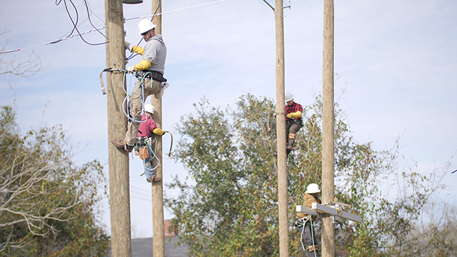 First class of community college lineworker students nearing graduation