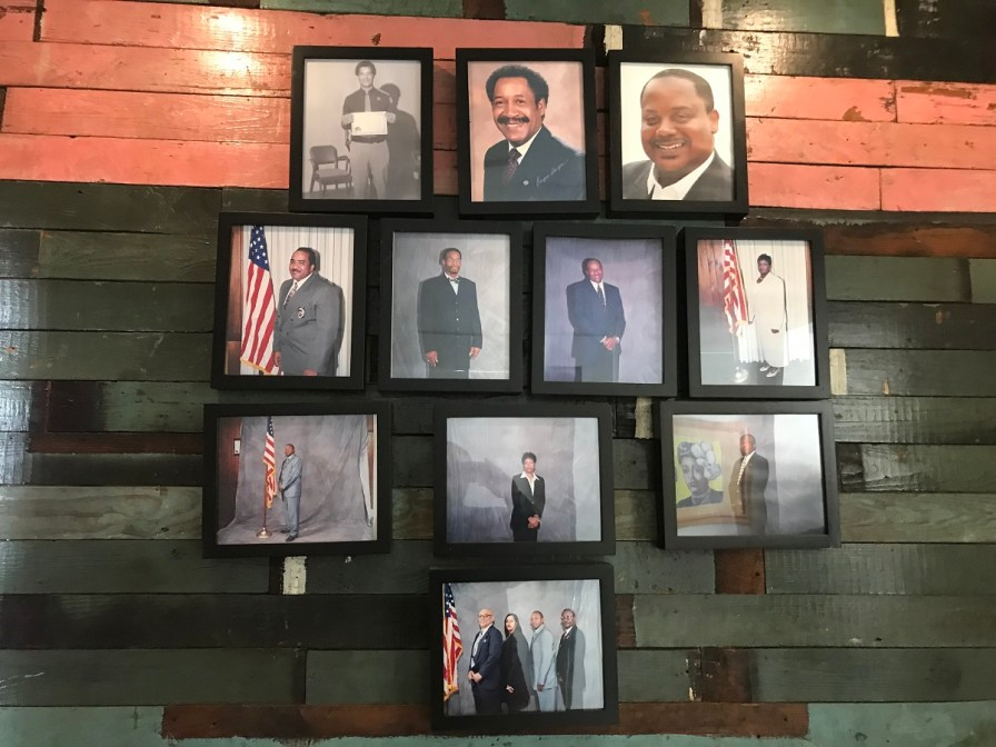 The Safe House Black History Museum occupies a shotgun house where Dr. Martin Luther King Jr. was sheltered in 1968 and two neighboring houses. (Michael Tomberlin/Alabama NewsCenter)