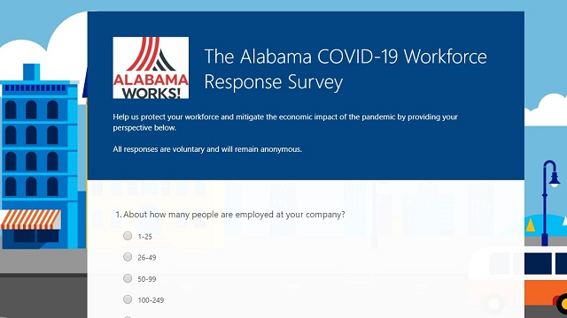 AlabamaWorks! to identify COVID-19 impact with business survey