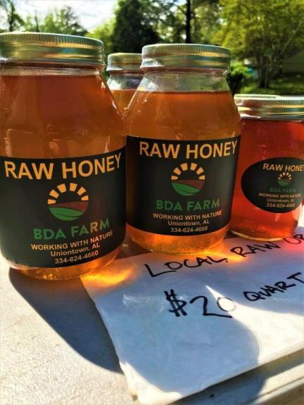 Honey for sale at the Irondale Farm Stand. (Bradleigh Turnipseed Pfitzer)