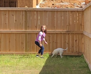 Diana Bailey, 7, was going to get a dog for her birthday in August, but her mom decided the stay-at-home period created by the COVID-19 coronavirus was the perfect time for a new pal. (Jeannine Bailey)