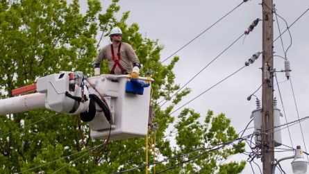 Alabama Power crews have been working to restore power to those who lost service following the storms that passed through the state Easter Sunday. (Dennis Washington / Alabama NewsCenter)