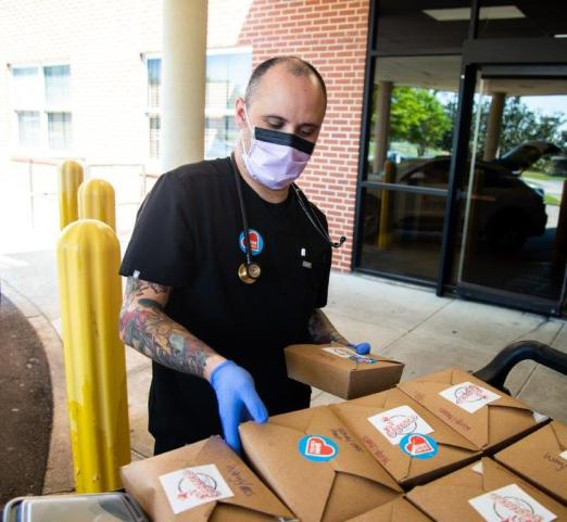 BHMcares takes donates to buy food from local restaurants and deliver the meals to health care workers. (contributed)