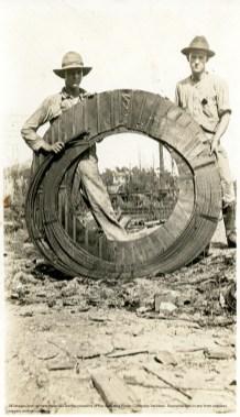 Transmission line work crew, 1916. (Alabama Power Company Archives)
