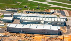 Airbus had doubled its production space in Mobile with the addition of the A220 final assembly line hangar. (Airbus)