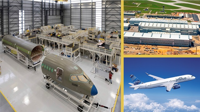 Airbus opens new production hangar in Alabama, starts work on first U.S.-built A220