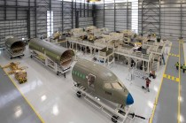 The first A220 assembled in Mobile will be built for JetBlue. (Airbus)