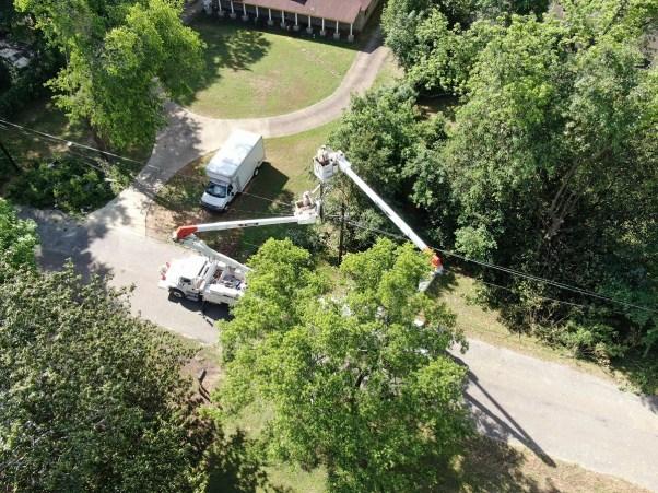 Storm restoration, April 2020 (Mike McCraney / Alabama Power)