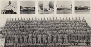 Honor Battery of the 256th Anti-Aircraft Artillery Battalion at Camp Rucker, June 16, 1953. (Image courtesy of Alabama Department of Archives and History)