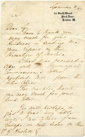 One of eight Florence Nightingale letters donated by The Upper Room in Nashville to the University of Alabama at Birmingham's Reynolds-Finley Historical Library in January. (Courtesy of the Reynolds-Finley Historical Library, the University of Alabama at Birmingham)