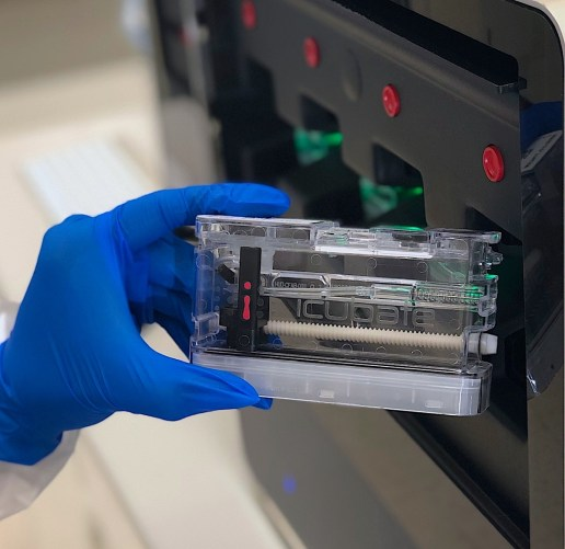 Each iC-COVID19 Assay is performed in a single-use, closed, disposable cassette that is pre-loaded with the reagents necessary to provide a qualitative answer from a single patient sample. (iCubate)