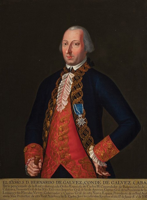 Portrait of Bernardo de Gálvez, 1785. (Museo Nacional de Historia, Wikipedia)