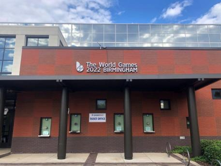 Signage at the Birmingham CrossPlex signals the coming of the World Games to Birmingham in 2022. (contributed)