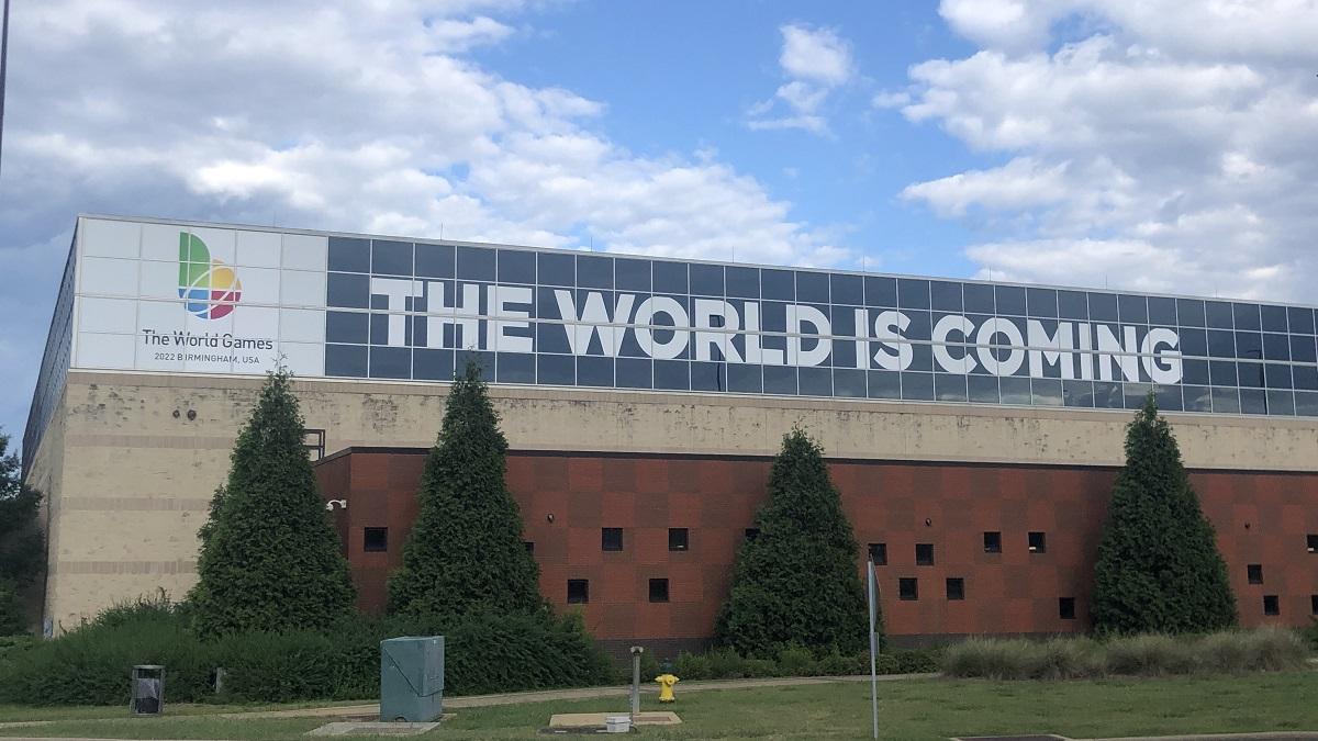 Signs, countdown clocks reflect new dates for Birmingham World Games
