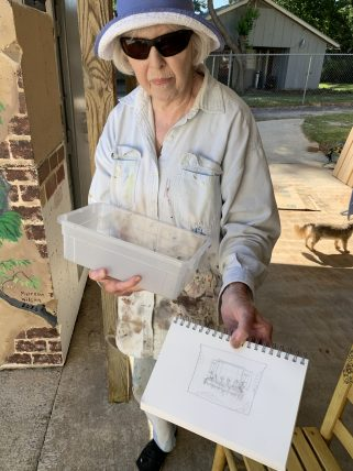 Wilson sketched her design for the Rogers's approval before starting work. (Donna Cope/Alabama NewsCenter)