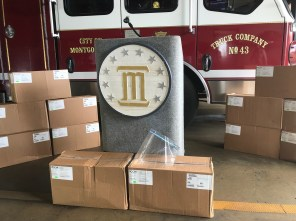 AFLAC donated 10,000 face shields to the Montgomery area. (Michael Jordan / Alabama NewsCenter)