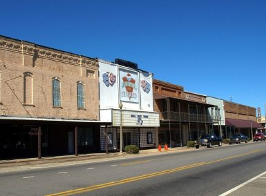 Main Street Atmore, including the Strand Theatre. (Chris Pruitt, Wikipedia)