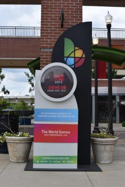 Uptown is home to one of the World Games 2022 countdown clocks. (contributed)