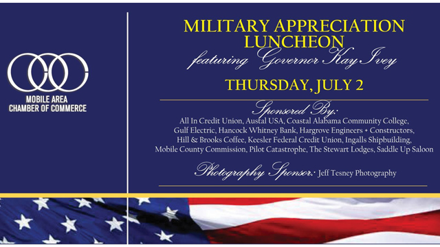 Mobile Area Chamber of Commerce will hold virtual Military Appreciation Day event July 2