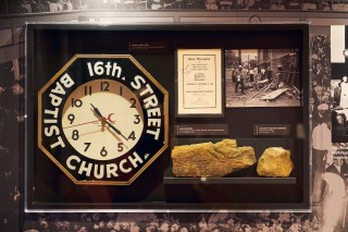 Thanks to contributions from the Alabama Power Foundation and others in the community, 16th Street Baptist Church is able to tell its story in a more comprehensive and powerful way. The clock in this exhibit is stopped at 10:22, the time a bomb exploded at the church on Sept. 15, 1963. (Alabama Power Foundation)