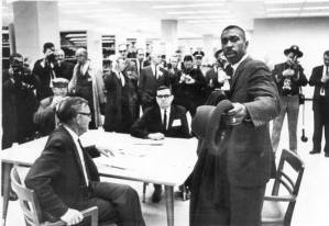 Harold Franklin applies to graduate school at Auburn University. Officials attempt to block Franklin's application and prevent his acceptance into the graduate school. (Auburn University)