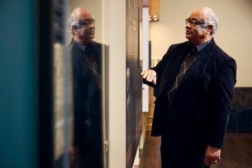 Theodore Debro Jr., chairman of the board of trustees at 16th Street Baptist Church, leads some of the church tours taken by people from across the world. (Alabama Power Foundation)