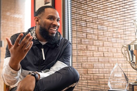 Mike McClure Jr. has a double career as pastor of Rock City Church and as a chart-topping, award-winning gospel music artist. (Amarr Croskey/The Birmingham Times)