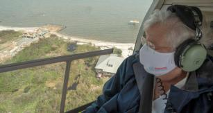 Alabama Gov. Kay Ivey tours damage caused to the Gulf Coast by Hurricane Sally. (Hal Yeager/Governor's Office)