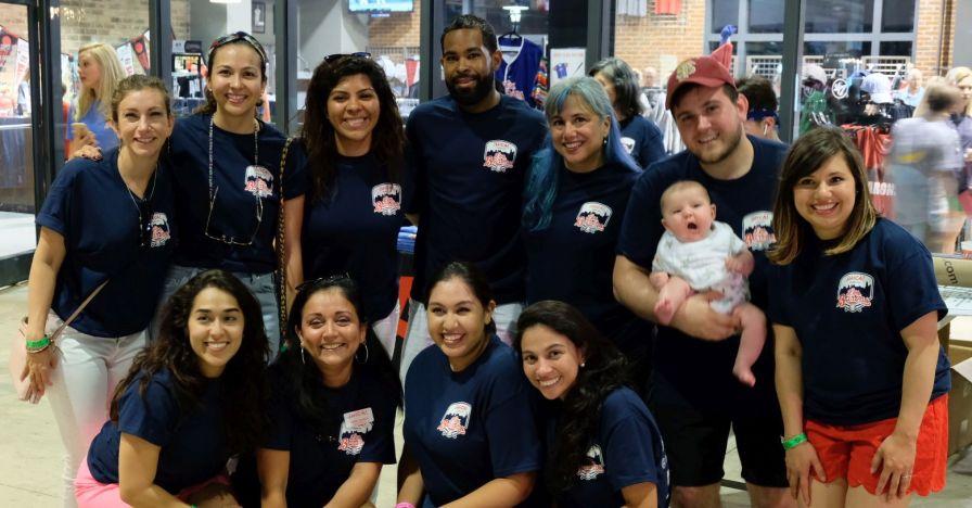 Lambiase (far left) and Lopez (far right) enjoy giving back through ¡HICA!. (Deyse Lopez/Alabama Power)