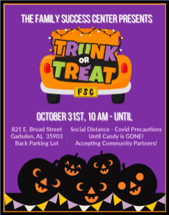 The Family Success Center will host Trunk or Treat for Halloween. (contributed)