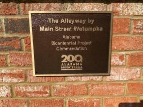 The Alleyway Project was completed during the state's bicentennial celebration. (Michael Jordan / Alabama NewsCenter)
