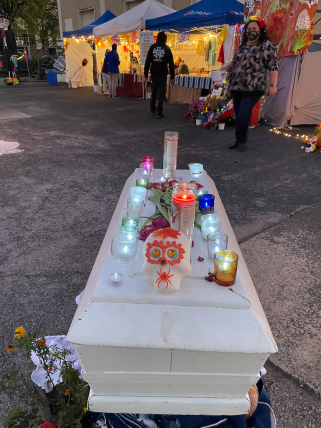 Social distancing is a part of Dios de los Muertas in Birmingham this year. (Ike Pigott/Alabama NewsCenter)