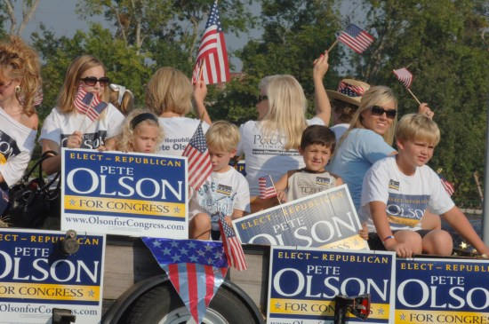 Kids political parade