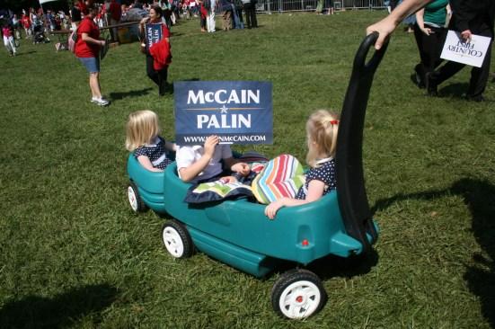 Kids with McCain Yard Sign