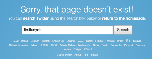 First Lady Dianne Bentley's missing Twitter page