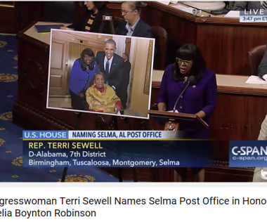 Terri Sewell Amelia Boynton post office