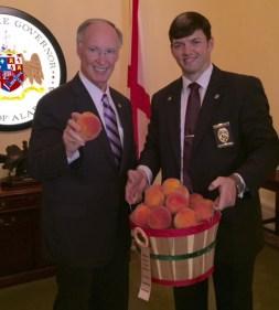 Robert Bentley with peaches