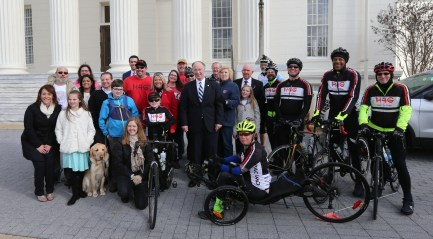Robert Bentley and cyclists
