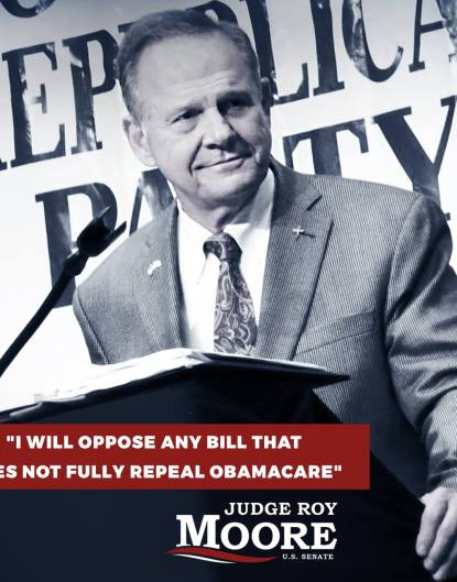 Roy Moore Obamacare repeal