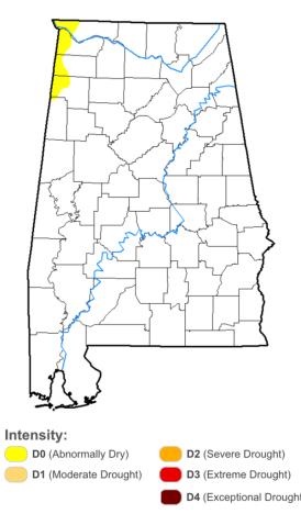 Alabama drought_5 July 2017