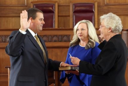 Chris Blankenship Takes Oath of Office