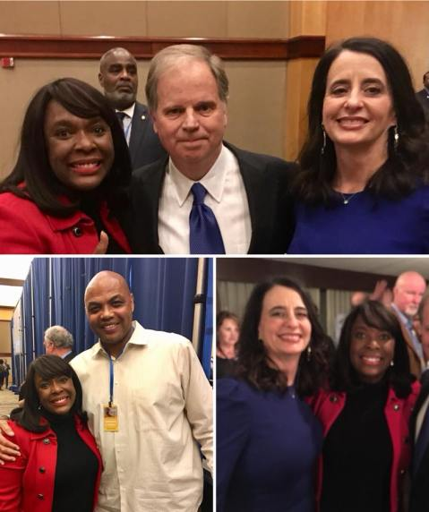 Terri Sewell and Doug Jones
