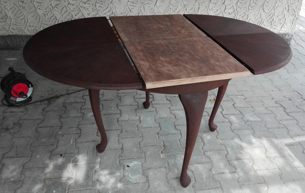 Renowacja stołu - bejcowanie drewna