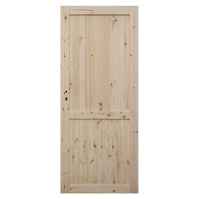 Stylizacja drzwi - malowanie surowego drewna
