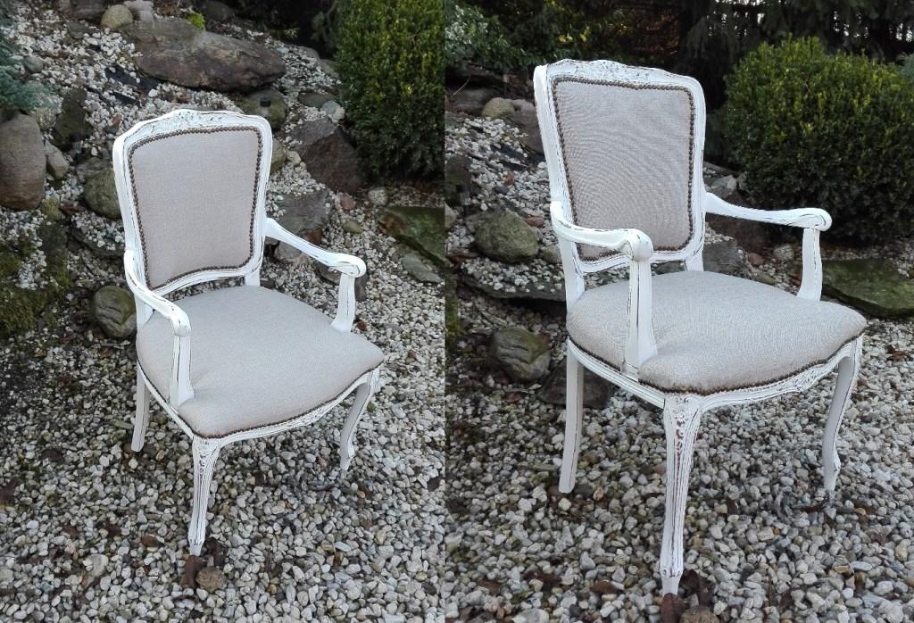 Krzesło stylowe z podłokietnikami