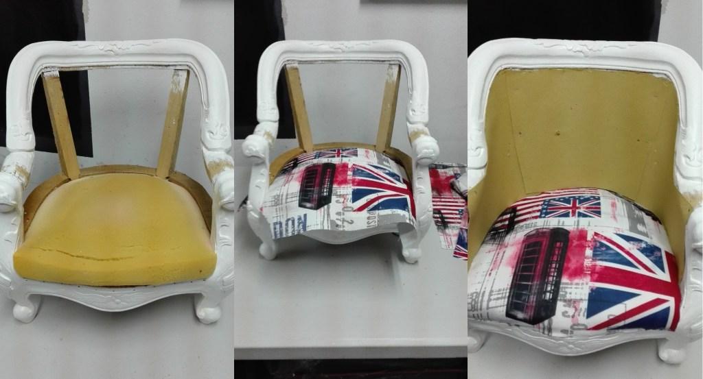 Renowacja fotela - wymiana obicia
